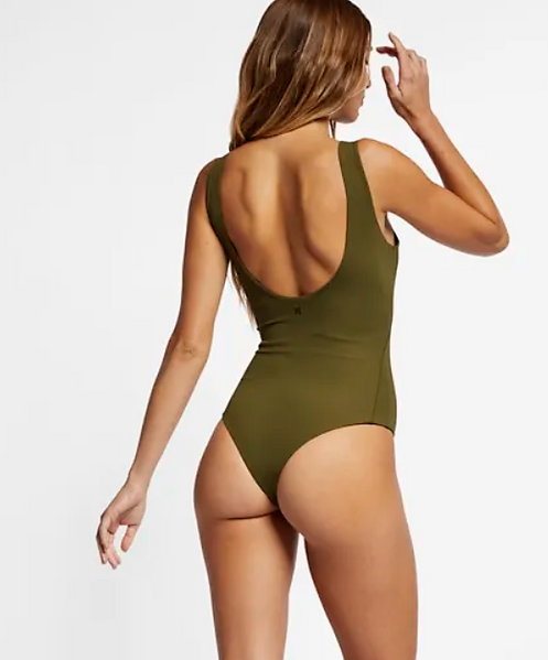 2caf3936806 The Hurley Quick Dry Block Party Bodysuit is the ultimate one-piece, with a  playful cut made from hybrid material and a built-in bra for support in and  out ...