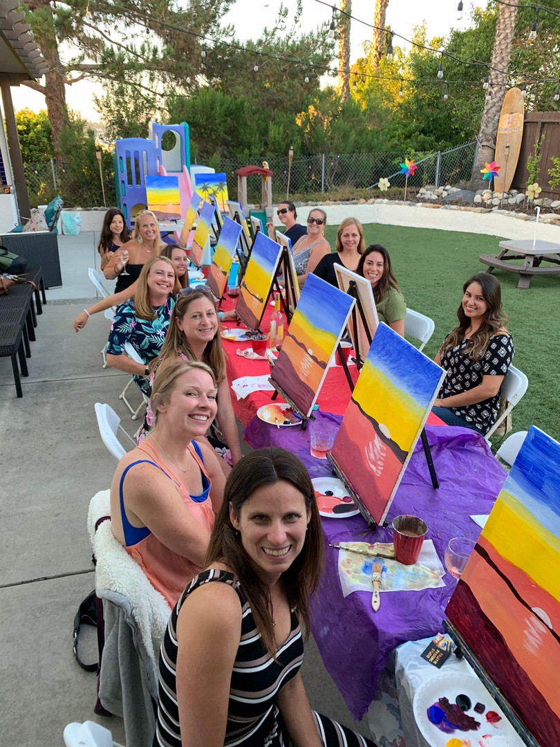 private paint party