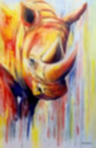 rhino at play