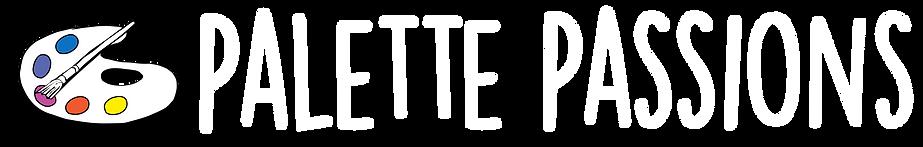 Palette Passions Logo [Horizontal White]