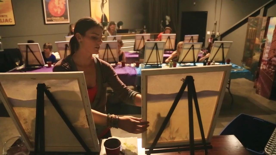 Jennifer teaching Paint Party