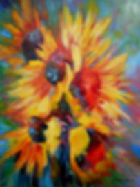sunflowers, jennifer doehring art