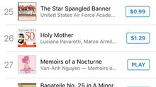 Memoirs of a Nocturne enters the US iTunes Charts!