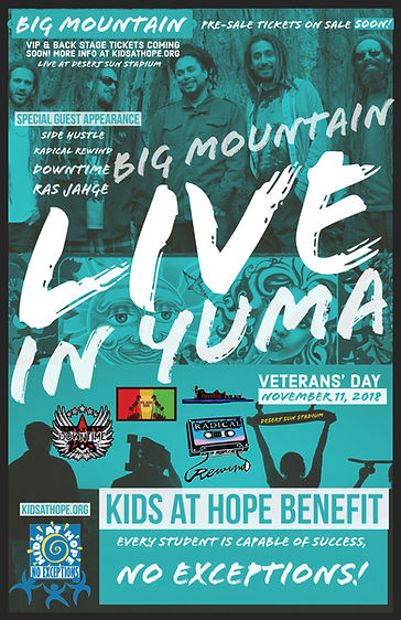 Kids at Hope Big Mountain concert  flyer