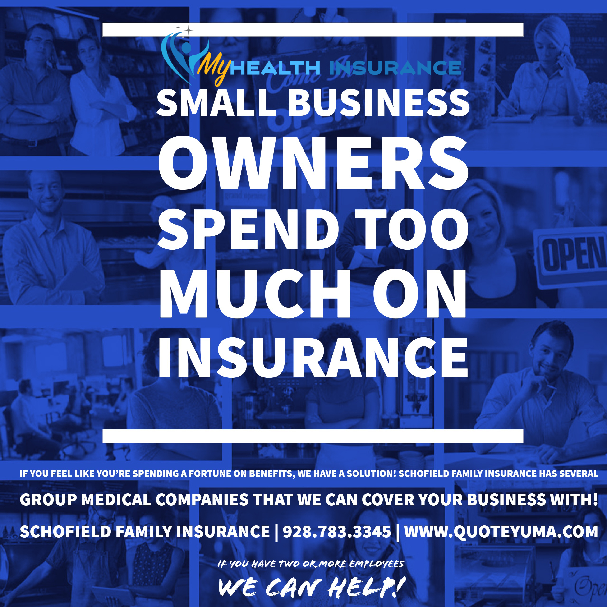 Schofield Family Insurance Small business owners press flyer 1