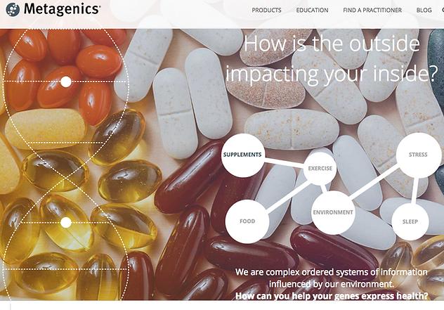 Metagenics, shopping supplements