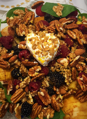 Fruit and tree nuts salad