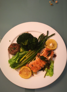 Steam Salmon Dish with vegetables