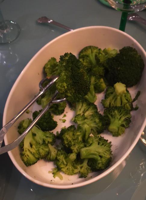 Dish of Steam Broccoli