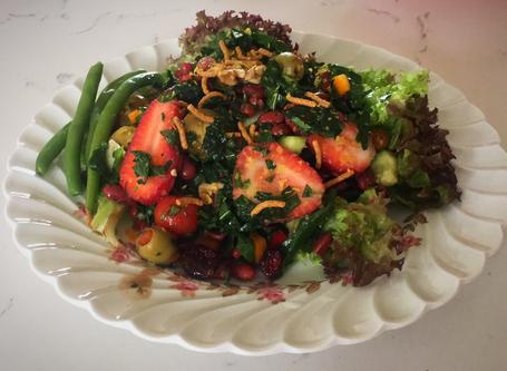 beans kale salad