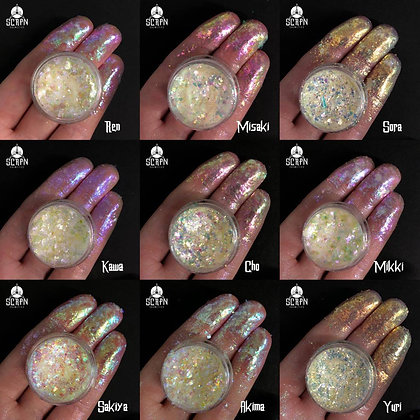 Full Clear Collection   Chameleon Duo Chrome Flakes