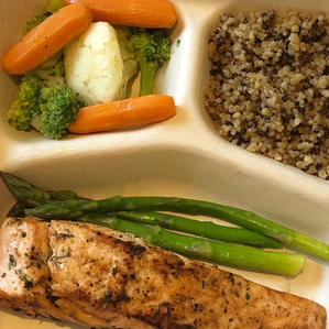 Grilled Salmon and Ancient Grains