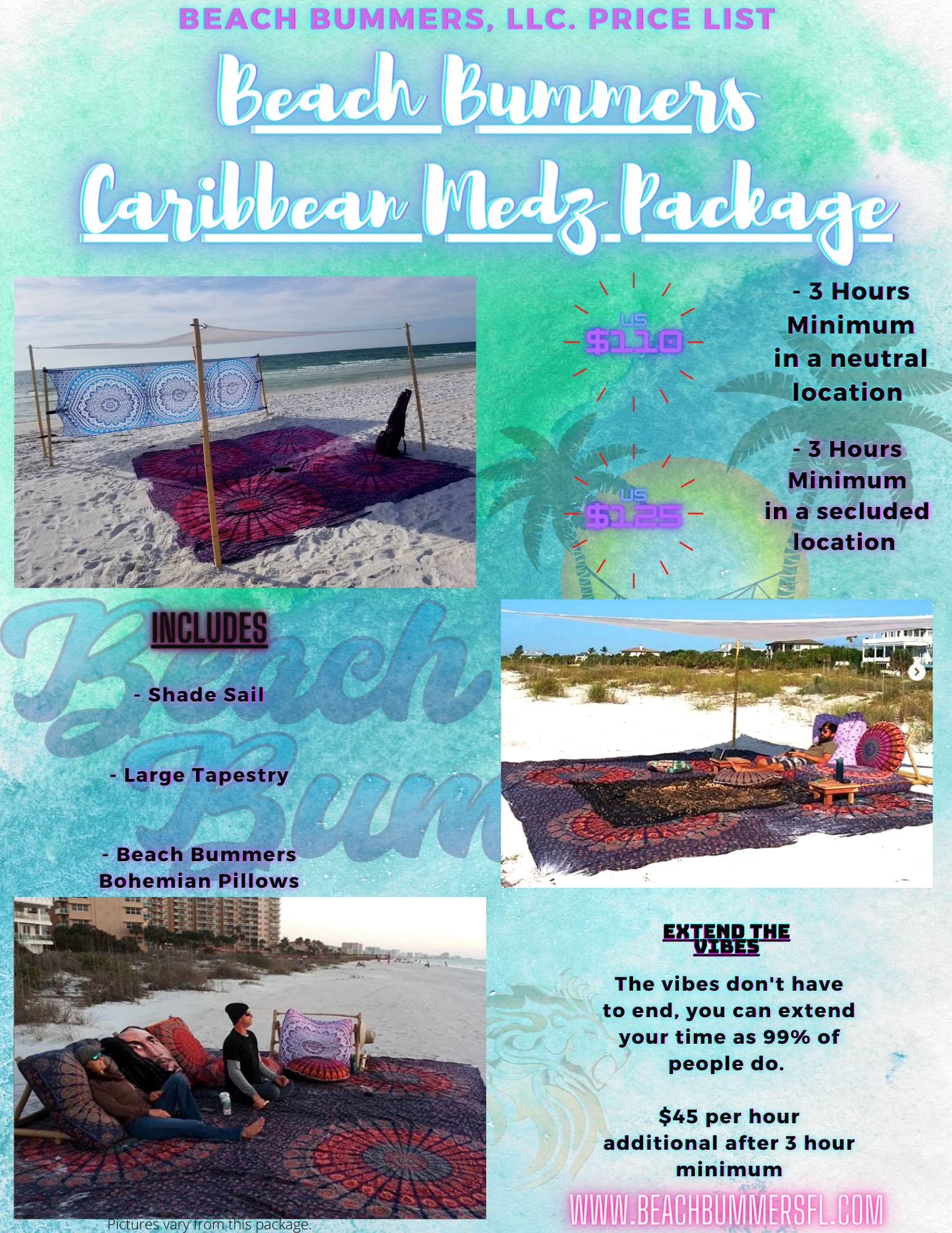 _Beach Bummers Carib Medz Packages