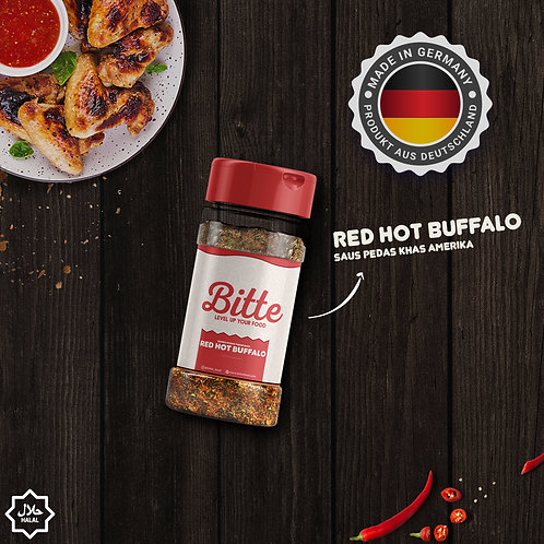 Rasa Red Hot Buffalo Bumbu Tabur / Seasoning - Bitte Food