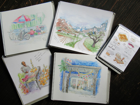 Traveling painter visits New Zealand 旅する絵描きNZへゆく。