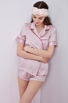 シルク半袖パジャマ上下セット