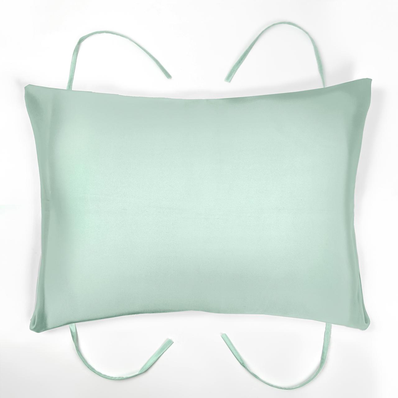 シルク紐付き枕カバー