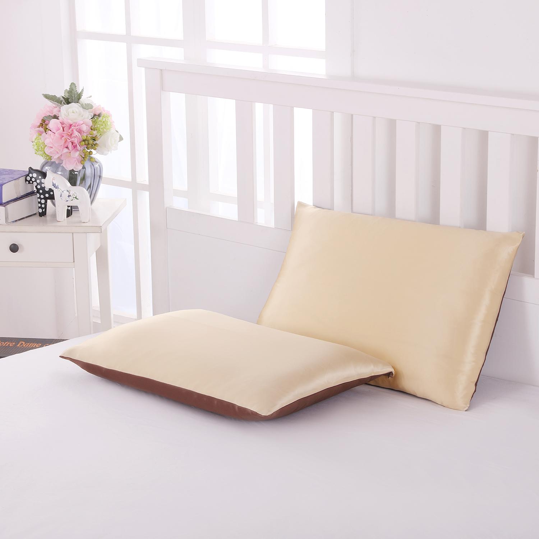 両面シルク枕カバー