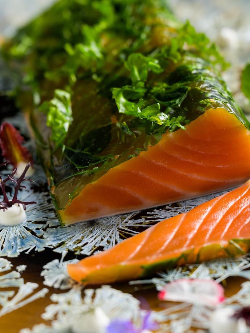 Cured Atlantic salmon