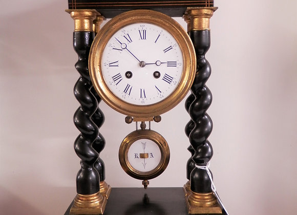 French Portico Mantle Clock