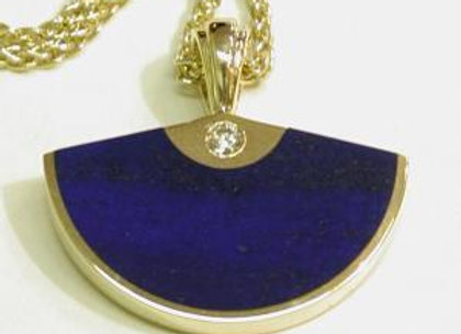 Lapis Lazuli & Diamond Pendant