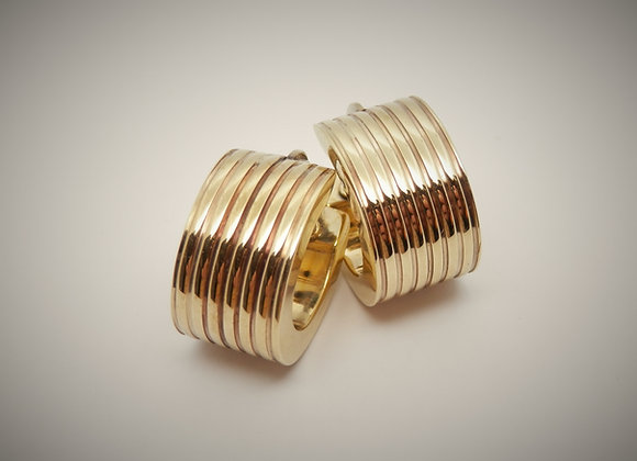 9ctYellow Gold Oval Earrings,