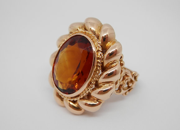 Second Hand Oval Citrine Dress Ring