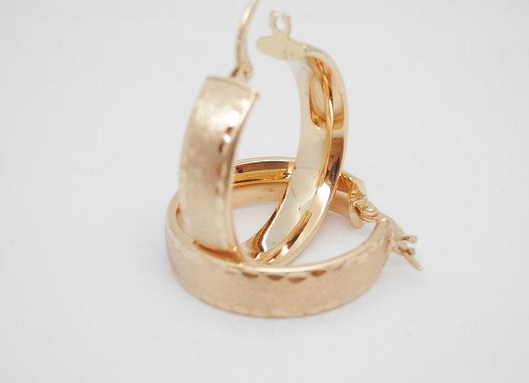 9ct gold earring hoops, for pierced ears.