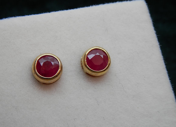 Quality Ruby Stud Earrings,