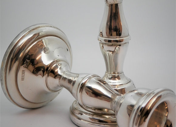 Second Hand  Pair of Silver Candlesticks