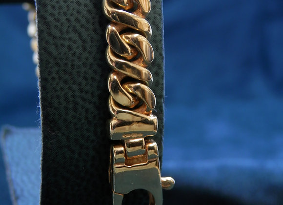 9ct Solid Gold Curb Style Bracelet