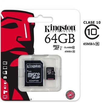 KINGSTON MICRO SD 64GB CLASS 10