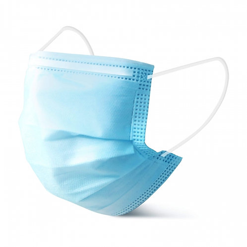 Non woven 3 ply fabric medical face mask for daily and surgical care