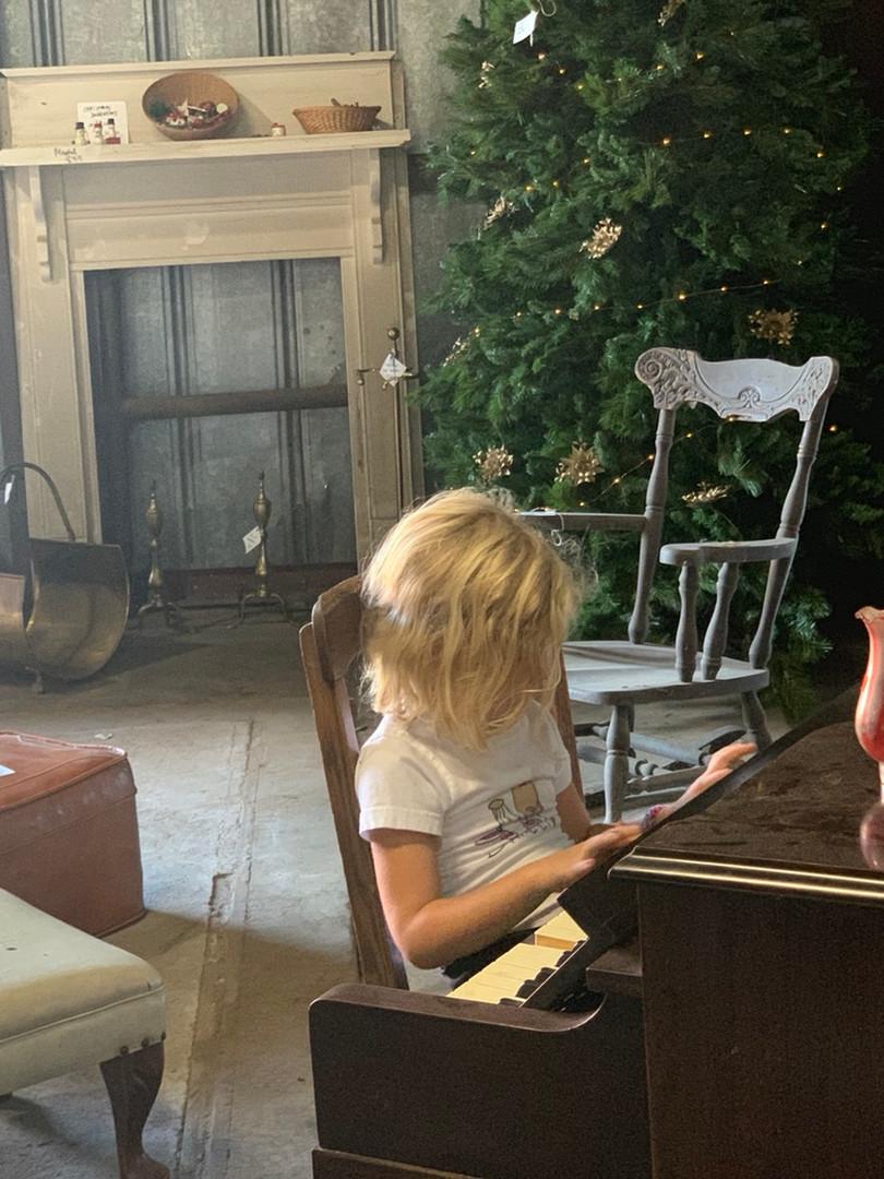 Mantles, antique furnture, piano