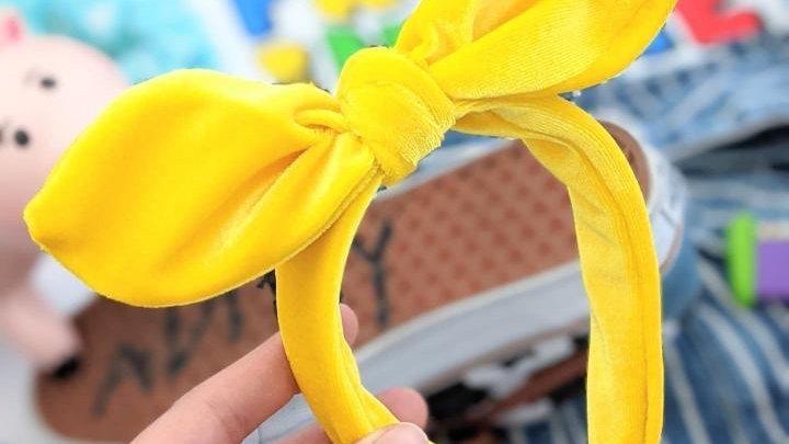 Yellow Velvet Knotband