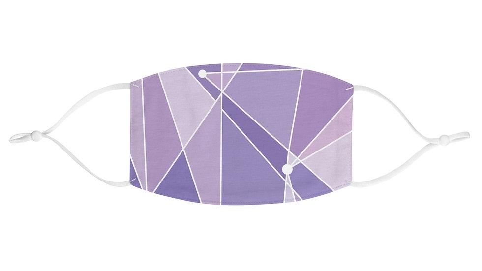 Purple Wall Fabric Face Mask