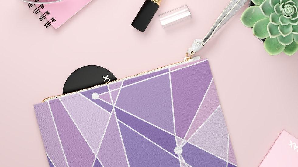Purple Wall Clutch Bag