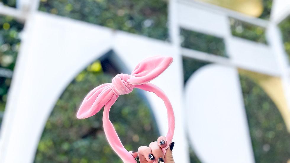 Pink Velvet Knot Band