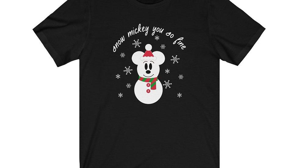 Snow Mickey Christmas Tee