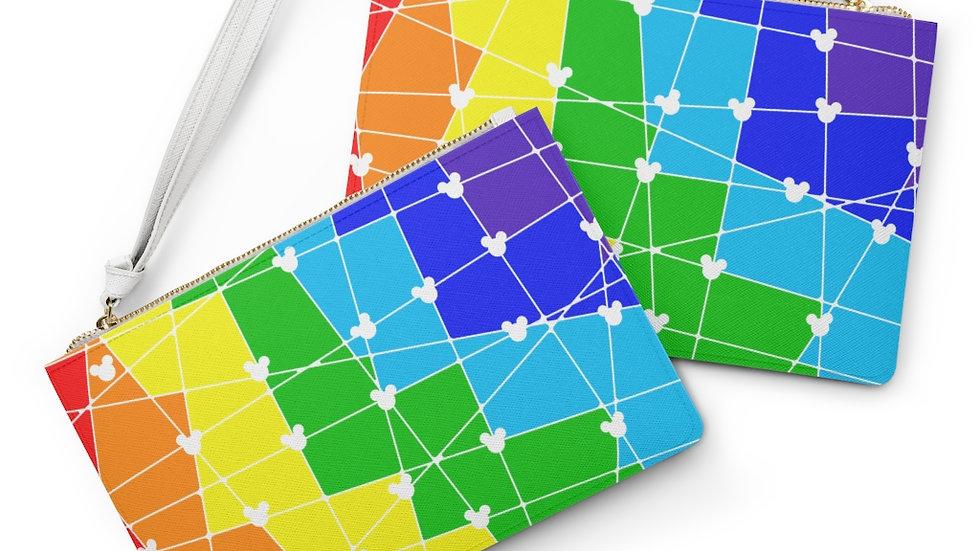 Rainbow Hidden Mickey Clutch Bag
