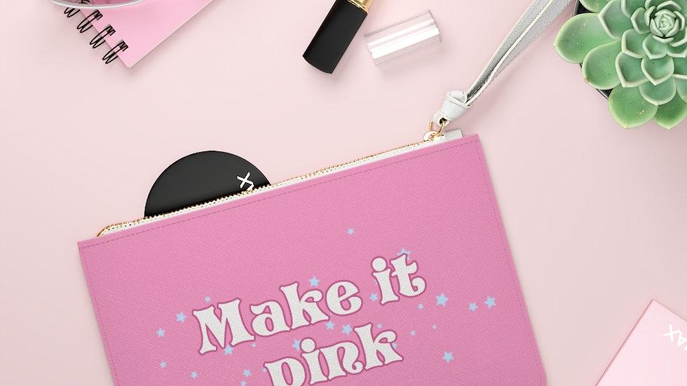 Make it Pink Make it Blue Clutch Bag