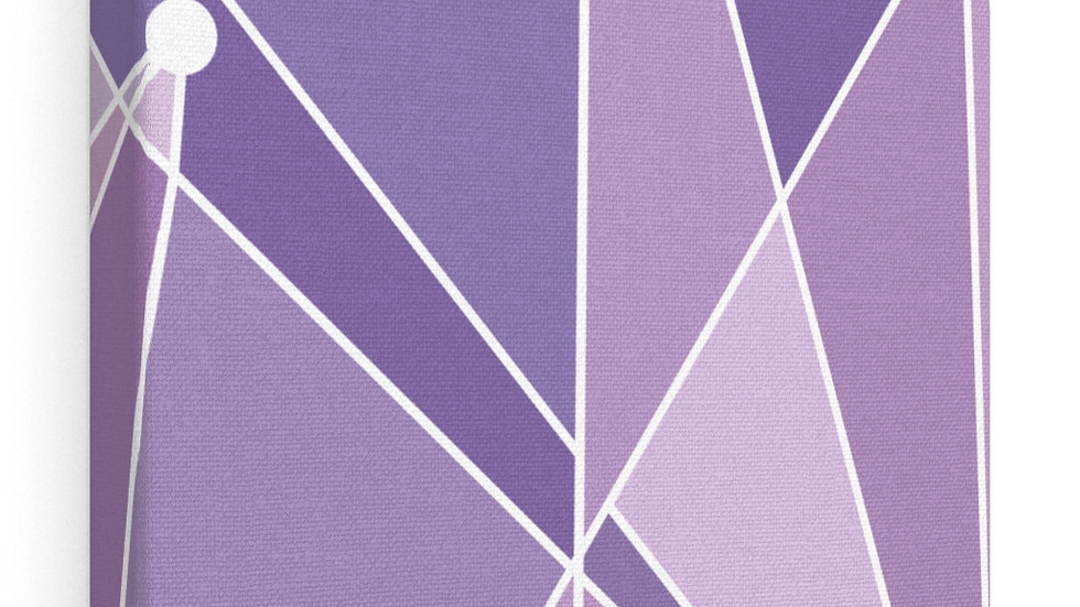 Purple Wall Canvas Gallery Wraps