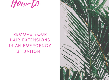 Remove your Natural Beaded Row Extensions - Because of Quarantine