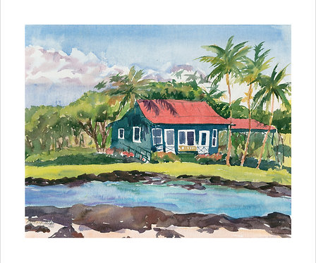 Eva's Cottage - Mauna Lani Watercolor