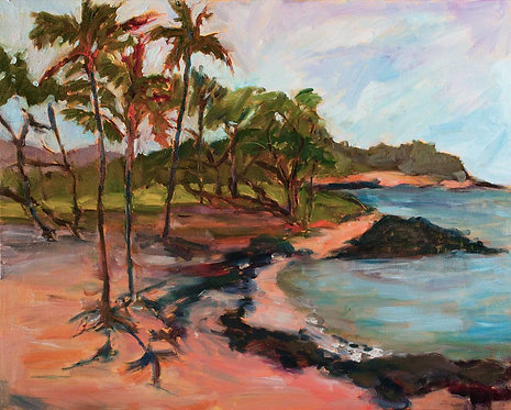 Anaeho'omalu Bay Afternoon - Oil