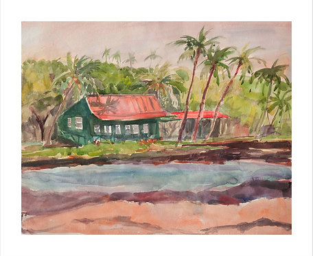 Eva's Cottage - Water Color