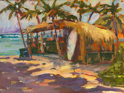 Hualalai Surfer Hut - Oil