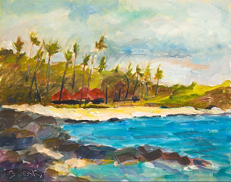 Kihole South View -Oil