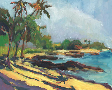 Anaeho'omalu Bay South View -  Oil