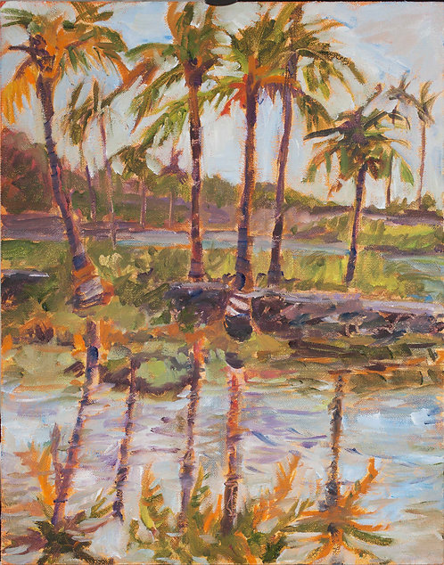 Kona Village Ponds - Oil